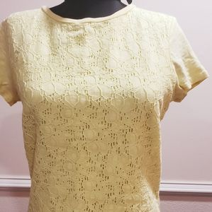 Talbots small yellow shirt